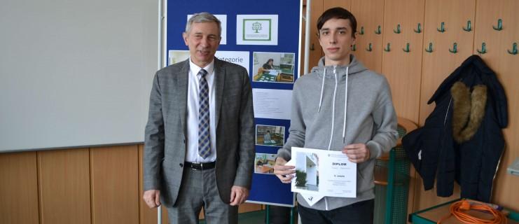 Úspěch žáka školy v krajské kole soutěže v anglickém jazyce
